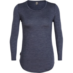 Icebreaker Solace LS Scoop Shirt Women, midnight navy heather